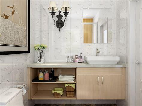 oppein light wood grain melamine bathroom vanity bc