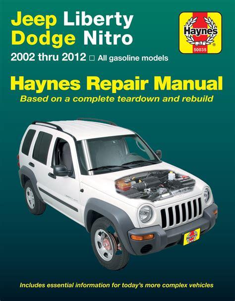 Haynes Manuals 50035 For 02 12 Jeep Liberty Kj Quadratec