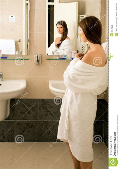 girl in the bathroom stock photo image of girl hygiene