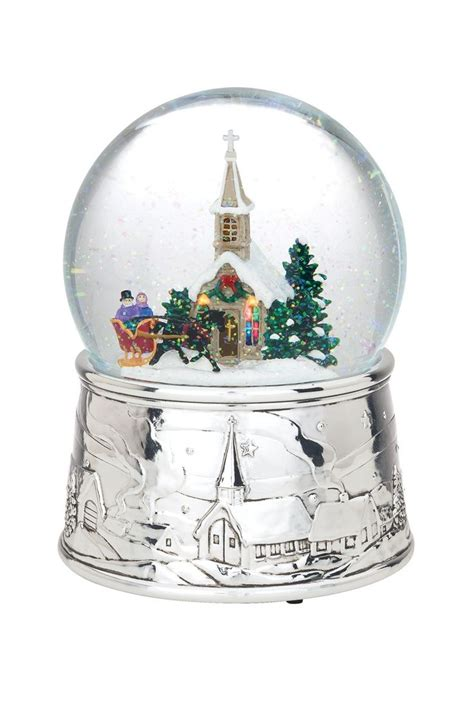 musical snow globes reed barton musical snow globes