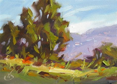 tom brown trees mountains 5x7 inch
