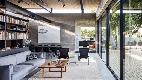 concrete house offers indoor outdoor living  fruit