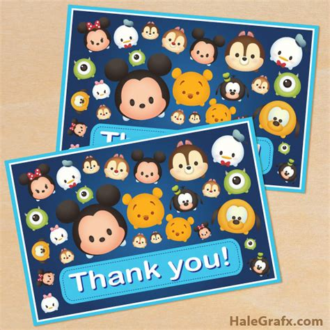 Tsum Tsum Tank free printable tsum tsum thank you card