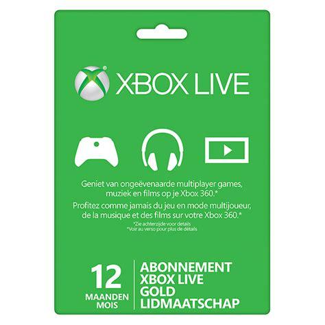 Xbox Live Gold Gift Card - microsoft xbox live gold 12 maanden gift card xboxone kopen