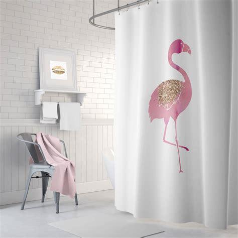 flamingo bathroom decor flamingo shower curtain pink bathroom decor rose gold long