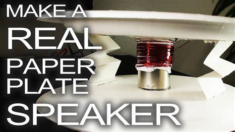 Speaker King Max rockin paper plate speaker