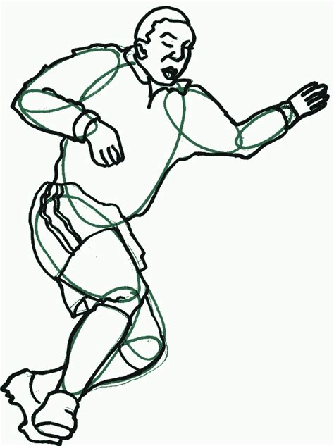 football drawing template football drawings to color