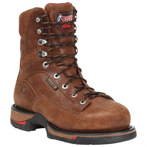 rocky shoes s rocky 174 8 quot range waterproof aluminum toe work