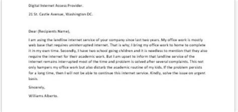 Complaint Letter To Courier Service Provider Sle Complaint Letter To Writeletter2