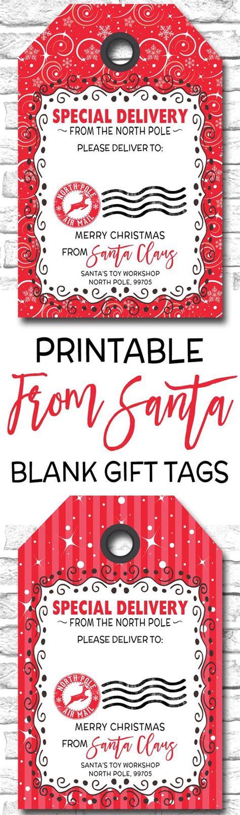 printable christmas tags from santa printable christmas gift tags blank from santa gift tags