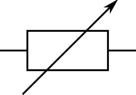 draw the symbol for resistor resistencia variable