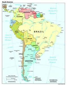 geography map of south america south america geography