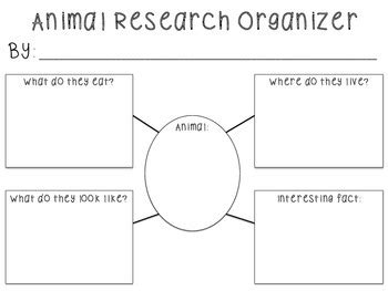 Animal Research Organizer By First Grade Is Fabulous Tpt