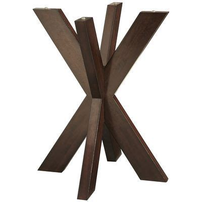simon x dining table base espresso simon espresso x end table base diy table