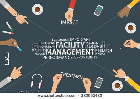 facility management ppt templates vector facility management concept template 282963482