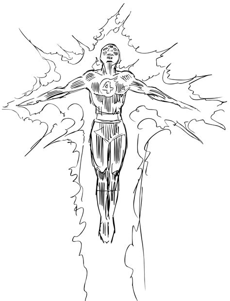 marvel human torch coloring pages coloring pages