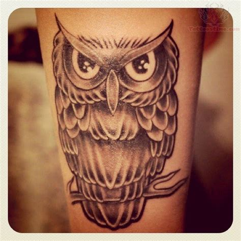 owl thigh tattoos owl images designs