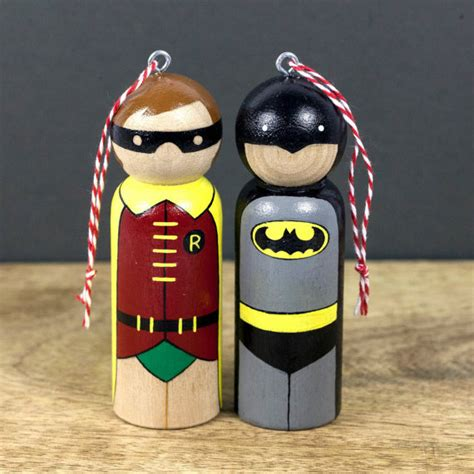 batman robin ornaments superhero ornaments christmas