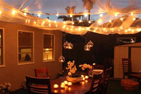 how to light up a backyard party summer backyard party decor inspiration