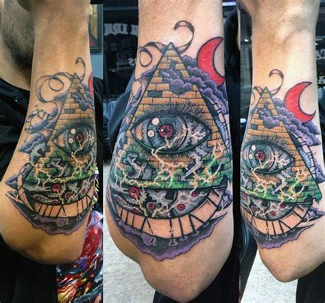100 pyramid illuminati eye tattoo on masonic