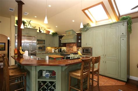 Green Country Kitchen Country Green Kitchen Farmhouse Kitchen Other Metro By Pacific Coast Custom Design
