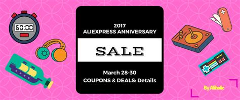 aliexpress 2017 march anniversary sale coupons