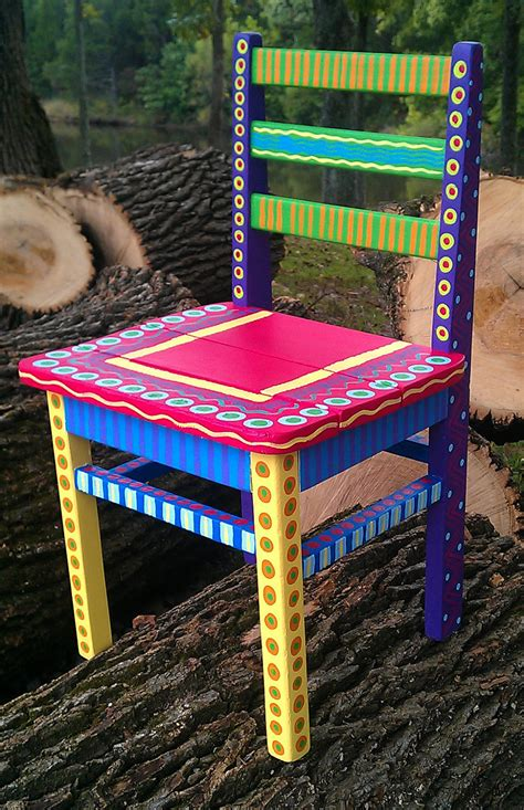 Handmade Childrens Furniture - painted childs chair