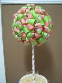 table decor polka dot ribbon topiary polka dot birthday