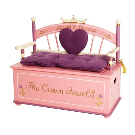 toy chest bench seat princess bench seat toy box for girls kelsi pinterest