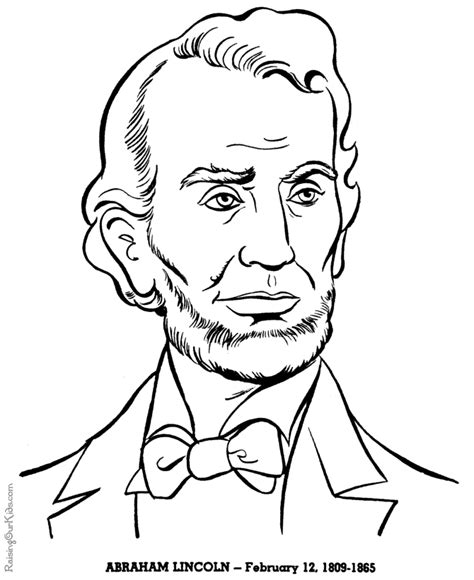 Abe Lincoln Coloring Page presidents coloring pages