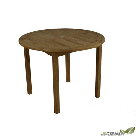 Wood Bistro Table Bistro 1m Teak Wood Table Wooden 100cm Garden Or Balcony Table Ebay