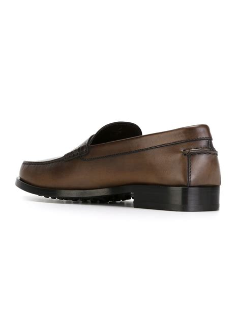 classic loafers for tod s classic loafers in brown for lyst