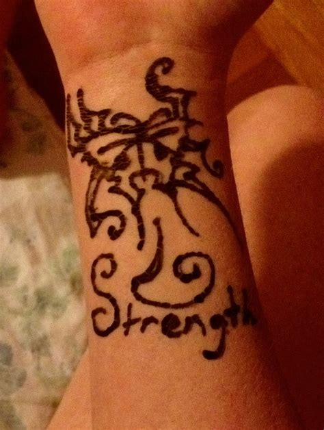 henna tattoo meaning strength henna strength butterfly by sagefillyluna on