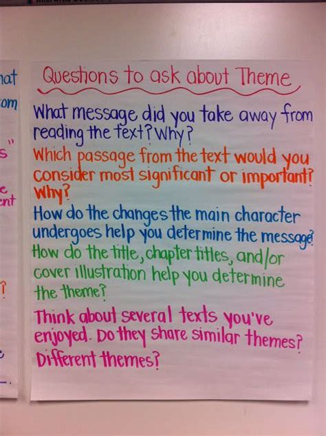 theme quiz 6th grade 78 images about theme on pinterest anchor charts
