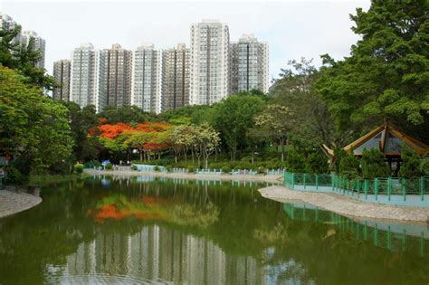 hong kong boats called tuen mun park the largest public park in the new
