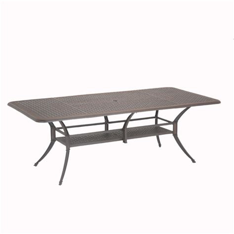 Patio Table Lowes Lowes Patio Tables Shop Allen Roth Shadybrook Cast Bronze Rectangle Patio Dining Table At
