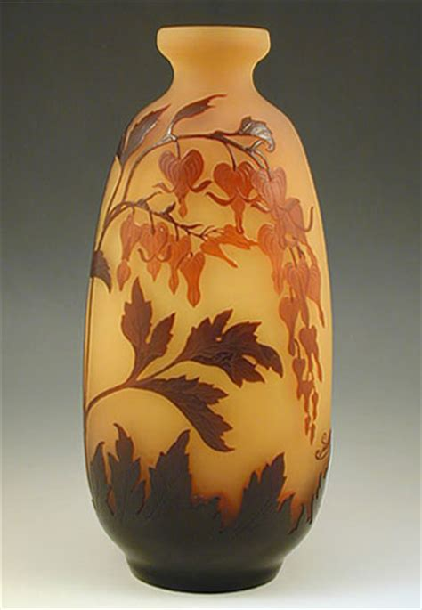Galle Vase Galle Art Nouveau Cameo Glass Vase With Bleeding Hearts