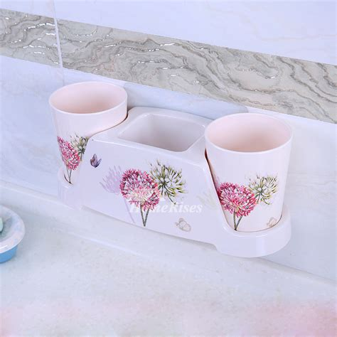 suction cup bathroom accessories suction cup resin bathroom accessories sets floral pattern