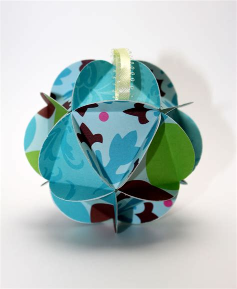 scrapbook paper 3d christmas ornaments tutorial craftcore