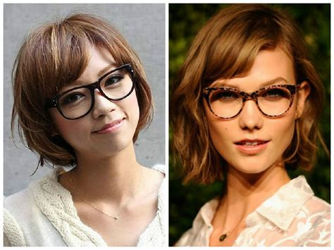 hairstyles with glasses and bangs the best short hairstyles to wear with glasses hair