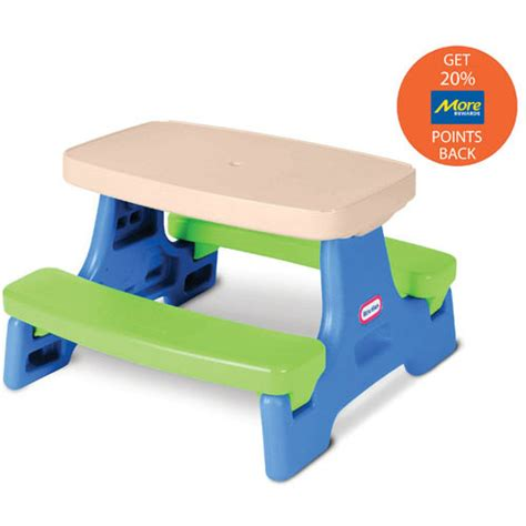 tikes easy store jr picnic table tikes easy store picnic table jr more rewards