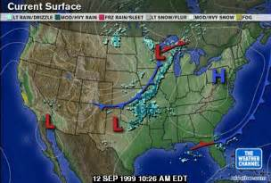 Usa Map Weather by Ch2 F99
