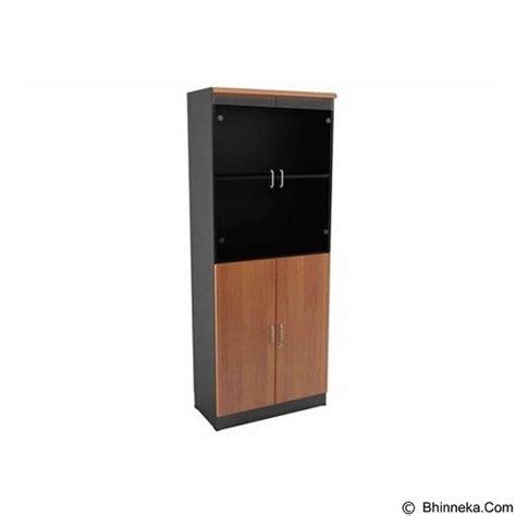 Lemari Kayu Lapis jual uno lemari arsip tinggi pintu kayu dan kaca 5 ruang ust 4554 ab merchant murah