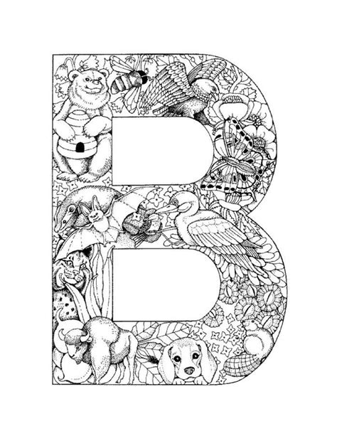 Letter C Coloring Pages For Adults by Letter B Picture Printable Alphabet Coloring Pages B