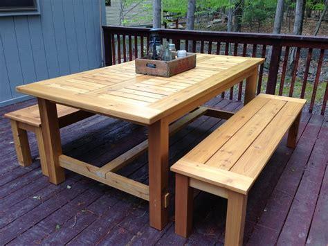 cedar patio table by frediv lumberjocks