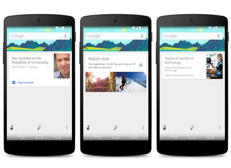 Search Now Search Update Brings New Now Cards Experience Launcher
