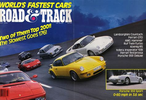 fastest lamborghini vs fastest ferrari world s fastest car 1987 road track mag porsche