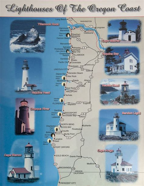 map of oregon lighthouses oregon 2012 galleries