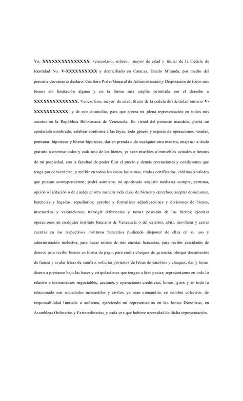 ejemplo de carta poder notarial car pictures modelo de poder notarial modelo de poder general