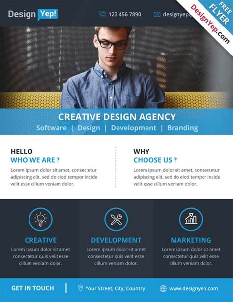 corporate flyer psd free download